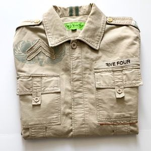 Five Four Vintage Embroidered Cargo Jacket XL